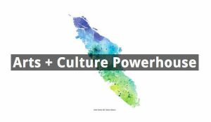 Map of Vancouver Island shown as Arts and Culture Powerhouse for Digital Art